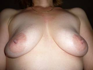 love big suckable nipples and saggy natural tits are the best to suck and feel