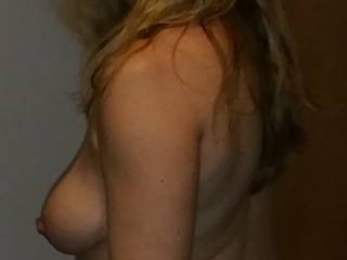 Just a little side boob for ya!