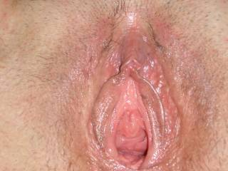 just finished licking my pussy getting it ready to be fucked hard and deep