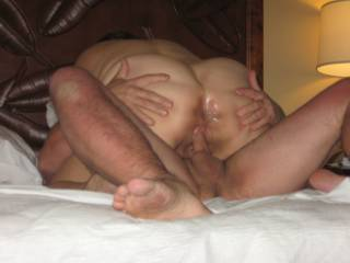 You've got this thick mature cock throbbing for its big pulsating head to penetrate that sweet waiting ass as he continues to fuck your hot pussy, for the most mind blowing dp ever!
