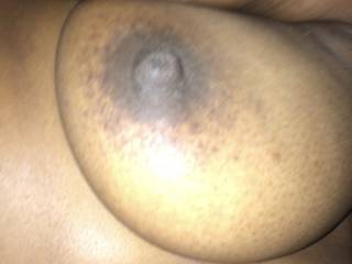 Ebony tit and nipple