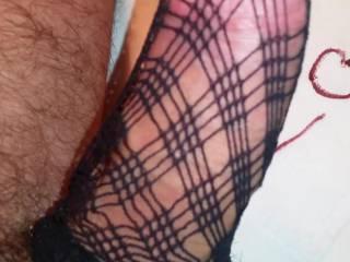 Cum trough fishnet