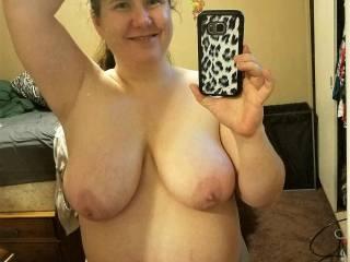 Tara flashing her huge tits for me.