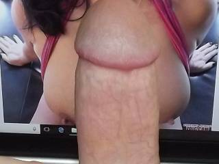 Luvsumcum, I wish I could slide the head of my cock on your wet tongue and cum right into your mouth! Thanks for the picture!