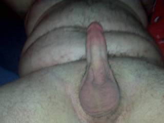 Damn, that is beautiful....what a gorgeous cock. I'd love to suck it. Beautiful balls too. I could gobble that cock up every day.  I think we could take some great pictures together! Love the cock pic and I like your balls! Mrs.M