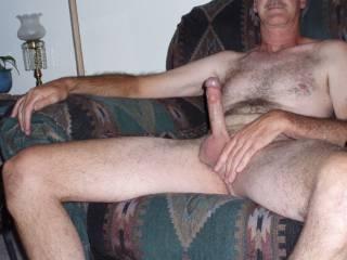 Me naked with a hardon