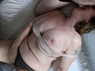 Working for all the cock in her throat while she comes