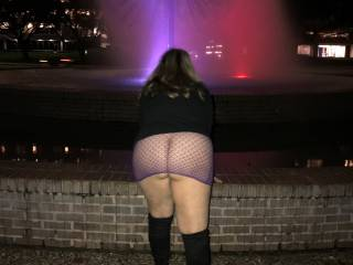 Out at a public park with people seeing me in see through clothing. What would you do if you were there?