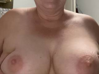 Just want to share nipples and areola of my 62 year old tits