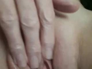 Close up video of me fingering my wet pussy. Rubbing my clit and pussy lips and finger fucking her. Moaning and then i cum.