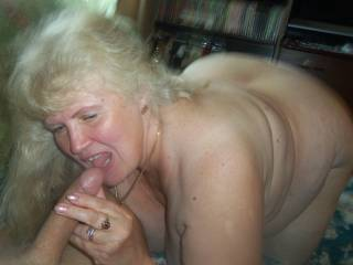 granny is always happy with my big cock, look how horny she is. She is already 67 years old