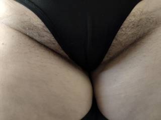 Love it when her pussy hair stick out around her panties