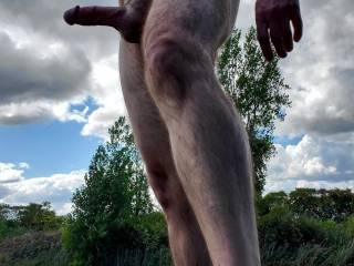 Enjoying being outdoors naked