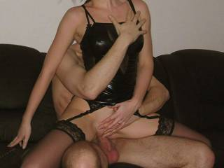 Wow hun, u r so hot and sexy!! love that pic, loks like u r having a great time!! full of that cock, nice...