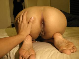 Oh Wow!! Love to bury my face and cock in there!! stroking my cock over your fab ass now!!