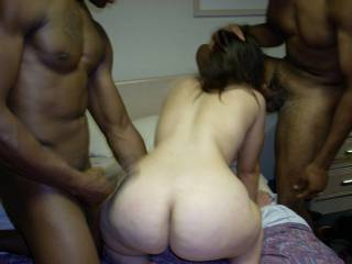 Nice night of the threesome.  What a juicy ass she has.