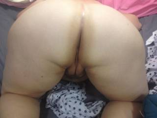 Lovely ass,.i can see myself rubbing my cock before a good deep and slow penetration at first,..