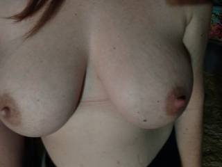 pregnant milk filled breast. How do they look?