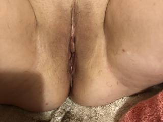 After my pussy was shaved.