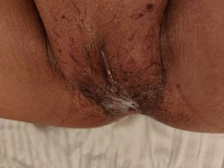 """Creampie pussy anyone? Apparently she is a screamer and with a pussy that is a 'Squeezer"""" (in his words). He has been getting his share of MILF of late... Hmmmmm - I guess I will have to be around the next time she is in town and check for myself.."""