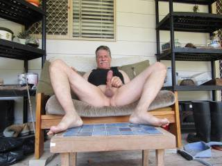 Just enjoying some outdoor time on my porch after looking at all the very sexy people here on zoig ... if you were my neighbour would you enjoy to come over and slide you gorgeous wet pussy on my cock do I have any takers?