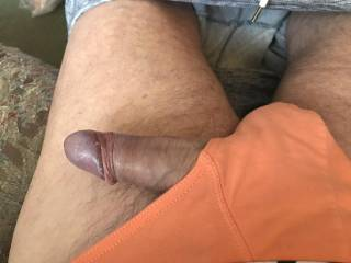 As my cock gets harder I cant keep it inside my briefs  I wonder where it would like to be ?