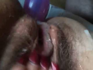 Hairy milf anal fucking with sex mashin and have orgasm