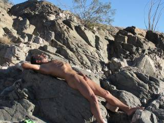 Nudist hiking and exploring day