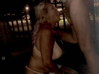 Truly public blowjob video of . The fear and excitement are evident. But its so hot