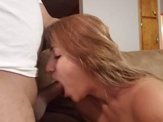 Enjoying my cock!