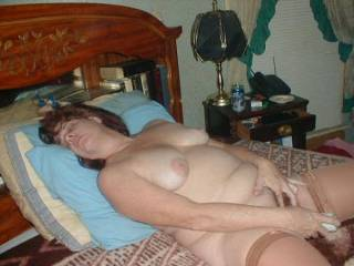 Hi agin and damn you gorgeous I'd love to lick you cum out of such a splendid pussy when you finish there.