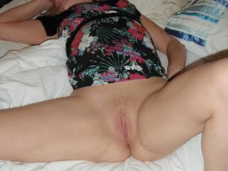 lovely pussy would love to see those breast out would not know which to suck first pussy or nipples
