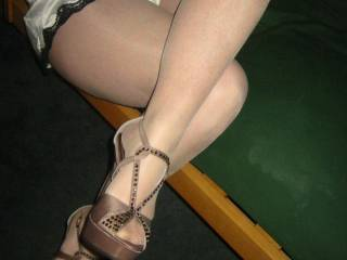 There is nothing more sexier then a smoking hot woman in pantyhose and then on top of that she has some of the sexiest feet o man i could worship those feet for hrs