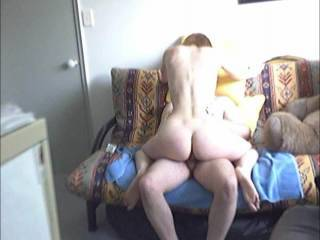 This was the first time trying reverse cowboy on the futon, it was a bit of a balancing act, trying to stay on the seat, I did have a safety pole to help luckily, its definitely a bit amateurish, but hope you enjoy
