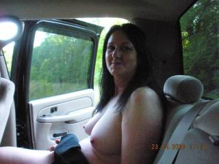 nice tits. bet they look good wrapped around my cock