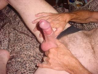 wow! i sure would enjoy my wife enjoying your big beautiful cock inside her holes