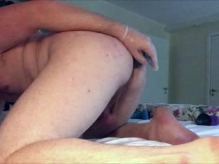 Fucking my ass with a nice dildo.