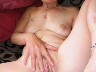 I'd love to lickand nibble you marvelous pussy, clit, finger you g-spot whiule you play with your clitorus until uo explod in gripping orgasm and before it fades mount my cock and fucm me hard and long. I admire your sexy matue womans body and those tits are to die for.