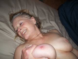 new neighborhood slut likes having her tits squeezed hard