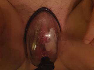 Pumping my slot wife's pussy before fucking