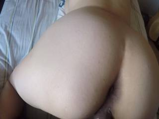 Slutty Wife Giving Look Back to See How She\'s Pleasing Her Loving Husband While Fucking Doggy Style