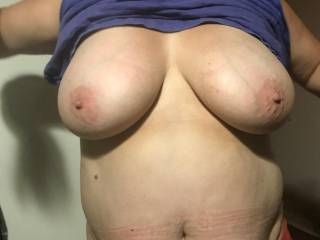 her bog tits and cum belly....anyone wanna use her as your cum dump.......