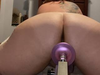 Spreading for my fucking machine