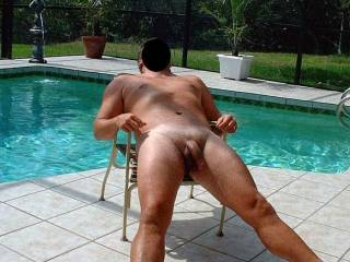 You can sunbathe at my pool anytime!