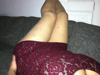 legs up, head down ready to be fucked both ends.