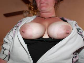 we have some great pictures of the wife squirting milk out of those big nipples but they keep rejecting the pictures and wont let us post them