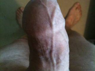 just had a shower my cock was rock hard so i had wank i was feeling so horny.