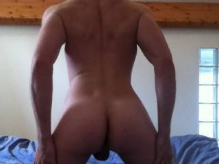 Nice butt, i wanna grab your balls.