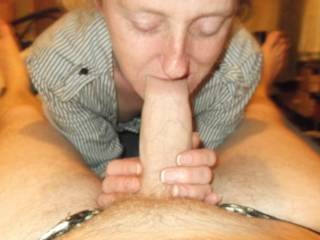 I just like to have my cock sucked and joanne likes to give me a blowjob every day