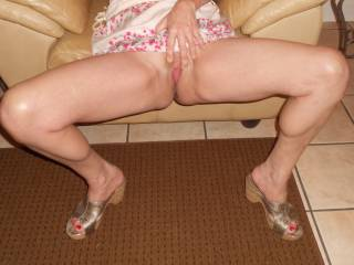 Is this the way a lady should sit in a skirt with no panties?